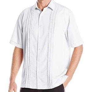 NWT Cubavera Men's Short Sleeve Woven Shirt Sz XL